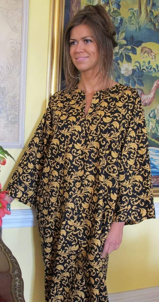 Gold/Black Caitlin Cotton Kaftan Tuttabankem