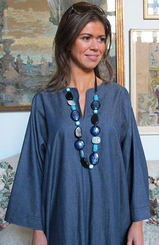 Carrie Cotton Chambray Kaftan Tuttabankem