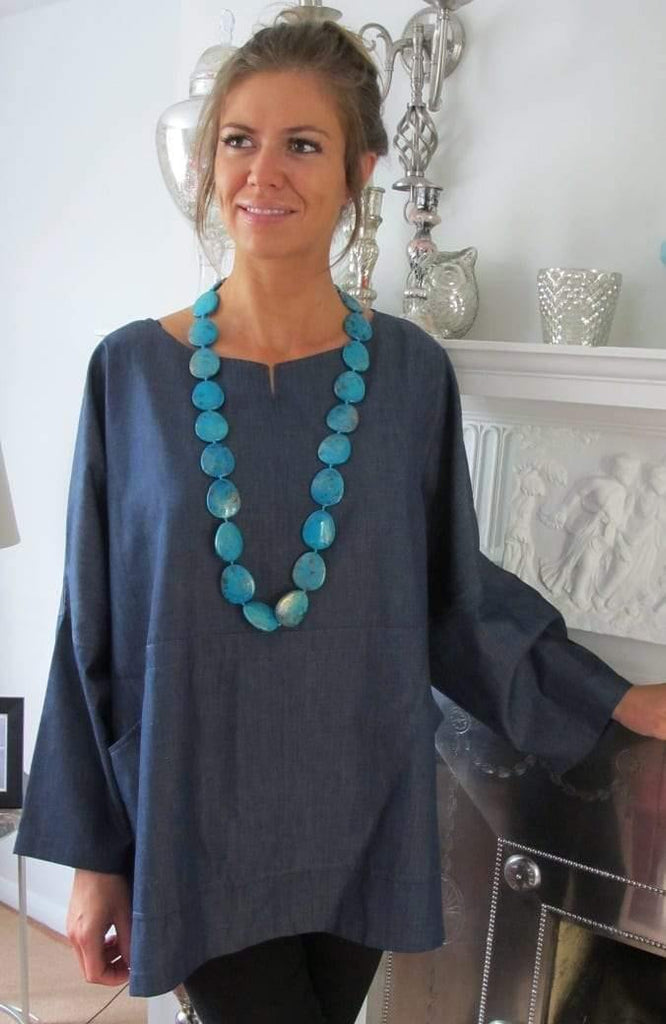 Denim Carrie Cotton Chambray Top Tuttabankem