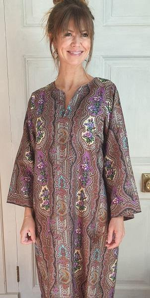Chana Ladies Long Cotton Kaftan Paisley Tuttabankem