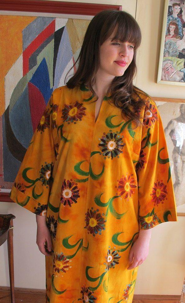 Lola Orange Cotton Kaftan Tuttabankem