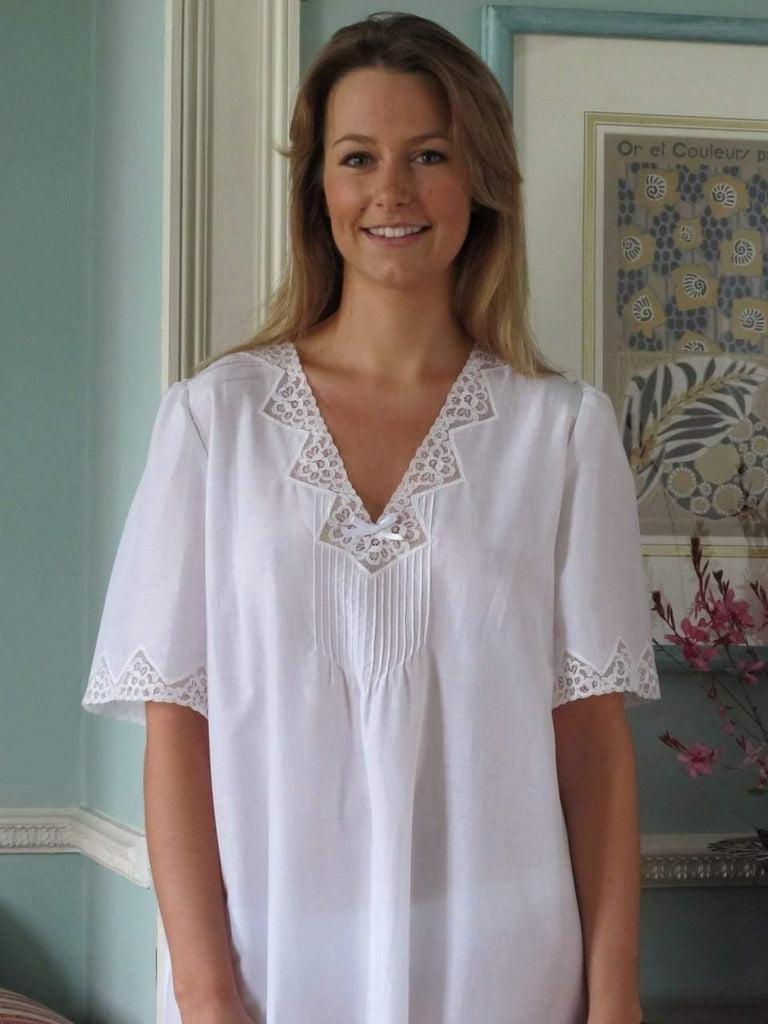 Long Cotton Lawn Siobhan Nightie Tuttabankem