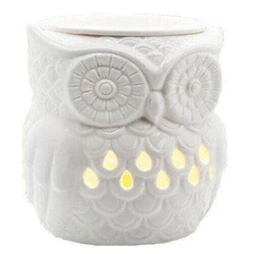 Ceramic Owl Electric Wax Melt Burner with Backlight Airpure