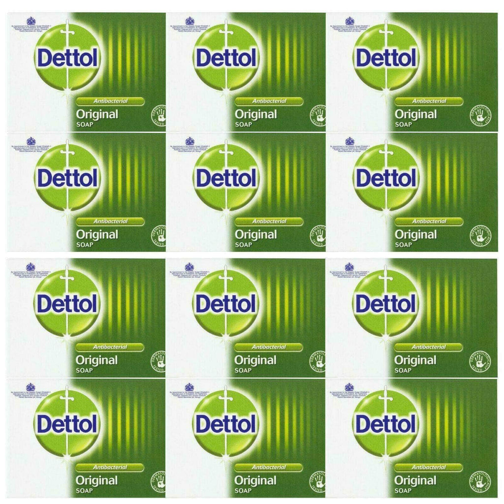 12 X Dettol Original Anti-bacterial Soap Bars 100g - Antibacterial