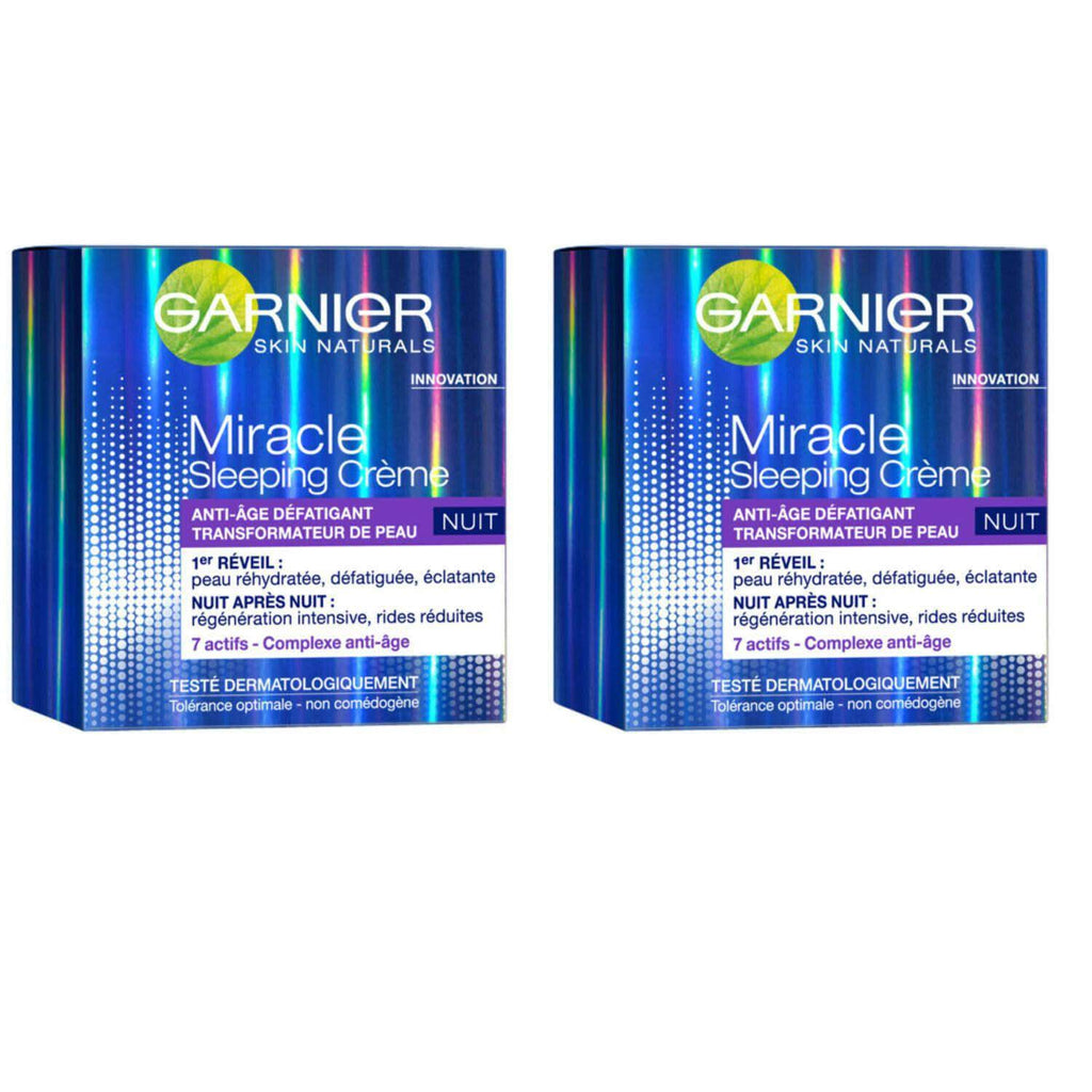 2 X Garnier Miracle Anti-Fatigue Sleeping Night Cream 50ml