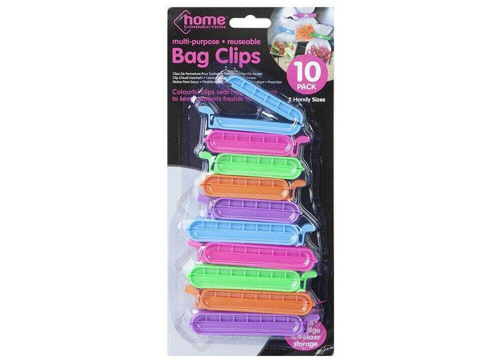 Food Bag Clips 10 Pack Reuseable - Keep food fresh and sealed