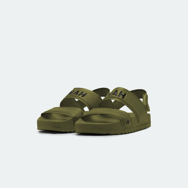 Laze Sandals Backstrap Army Green