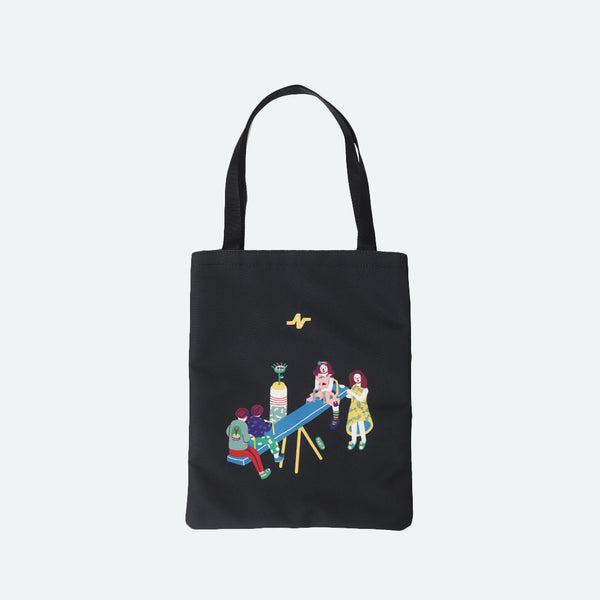 (+62) Tote Bag Happy Place Black