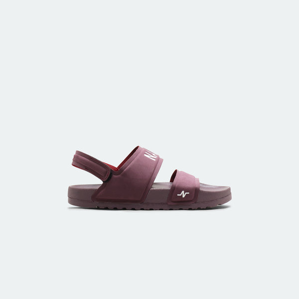 Laze Sandals Backstrap Maroon