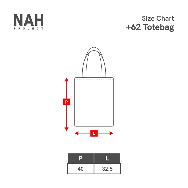 (+62) Tote Bag Hold My Hands Black