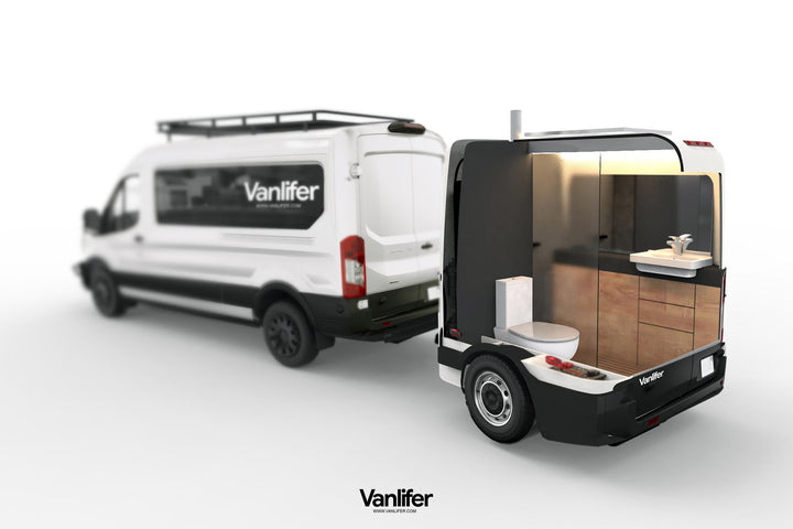 Portable luxury bathroom trailer: what you need to know about the Vanlifer Towable Bathroom