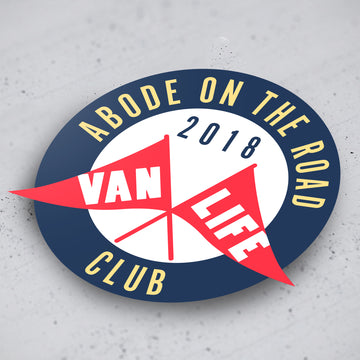 'Abode on the Road' Stickers