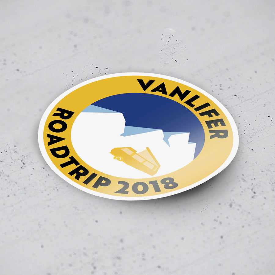 'Vanlifer Roadtrip 2018' Stickers