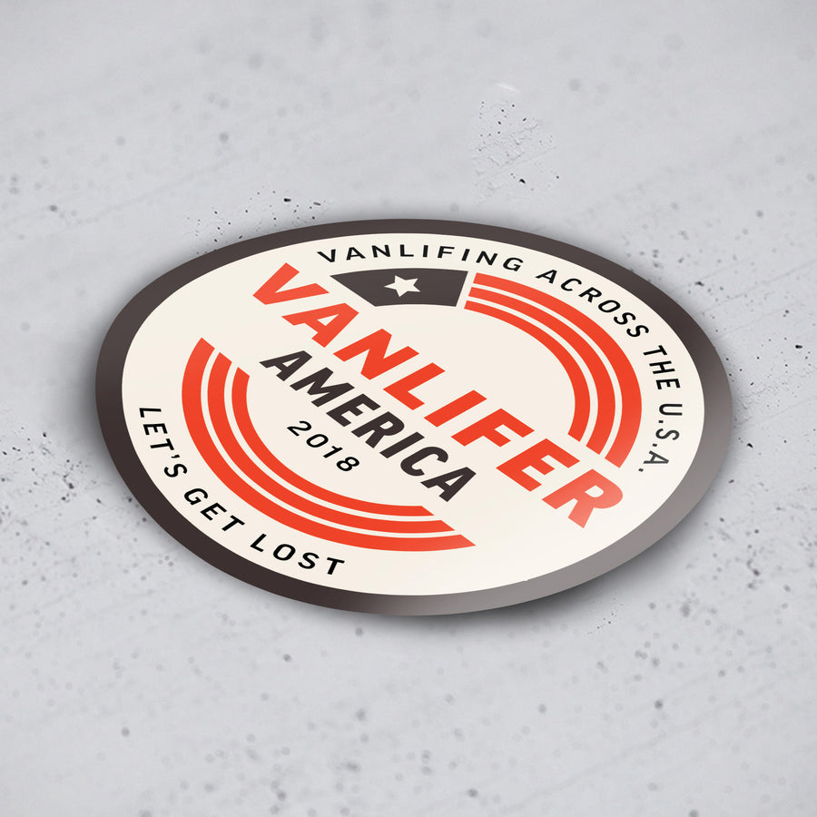 'Vanlifer America 2018' Stickers