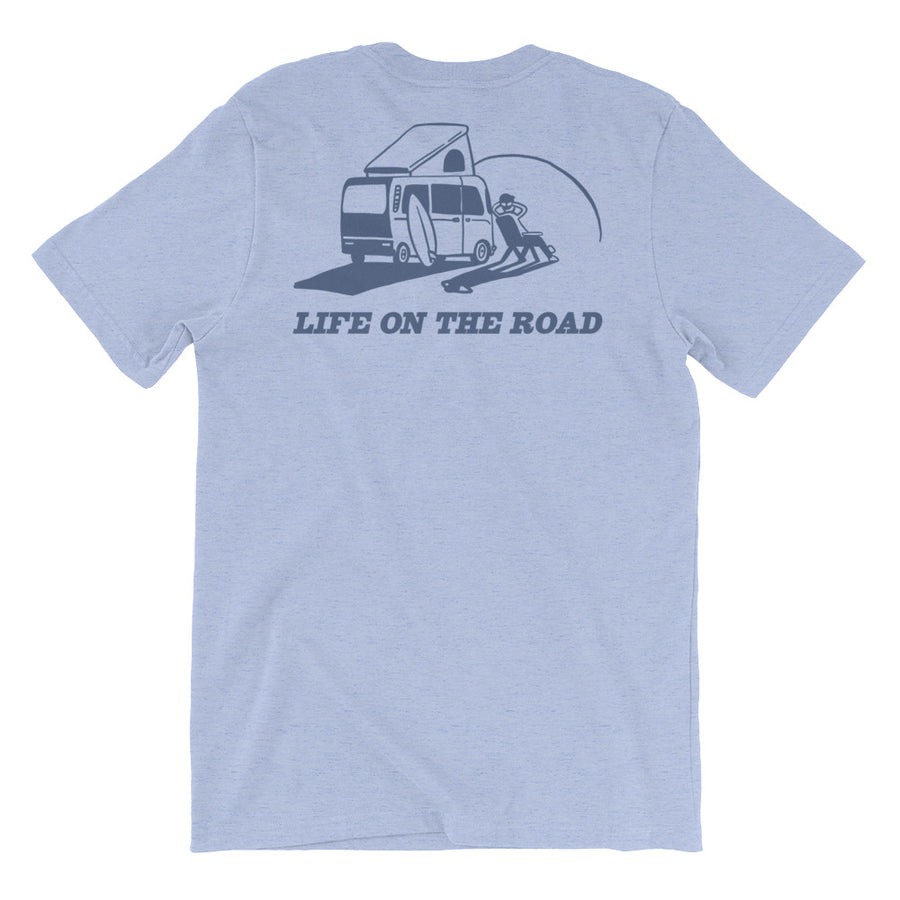 'Life on the Road' Tee - BLUE