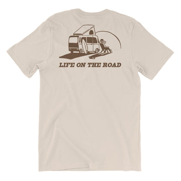 'Life on the Road' Tee - CREAM