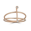 Linea Vertical Double Ring