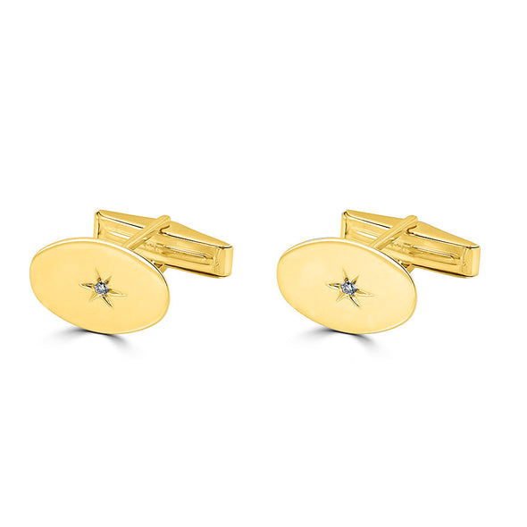 Etoile Oval Cuff Links