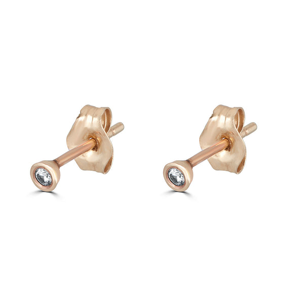 Le Basic Small Bezel Stud Earring (single)