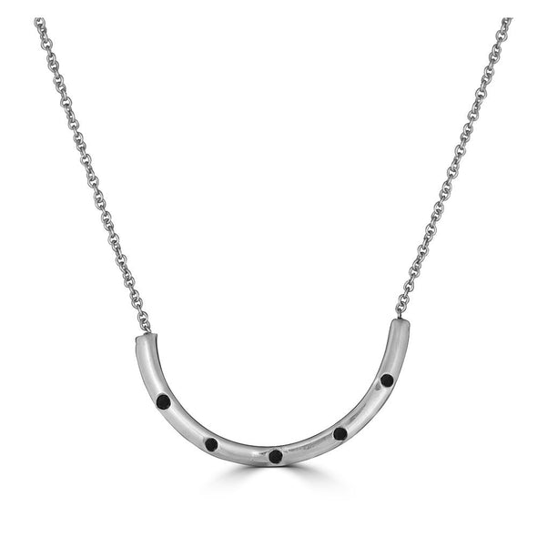 Semi Circle Outline Necklace