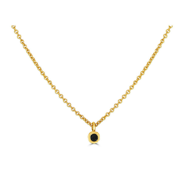 Le Basic Single Bezel Drop Necklace