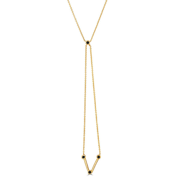 Linea Dropped V Bolo Necklace