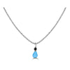 Bezel Drops Turquoise and Black Diamond Charm