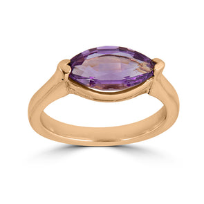 marquise shaped gemstone gold ring