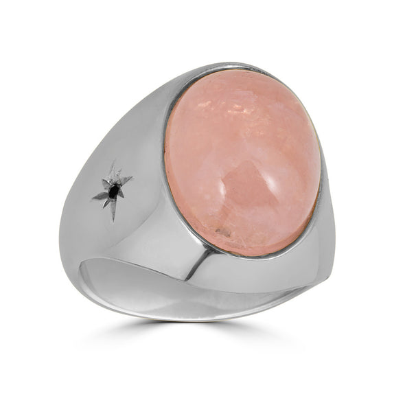 Cabochon ring sterling silver