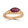 marquise garnet and rose gold ring