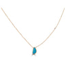 Bezel Drops Opal and Side Diamond Necklace