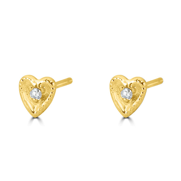 Mini heart Stud Earring (single)