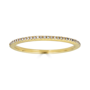 Le Basic Petite Micropave Ring- White Diamond