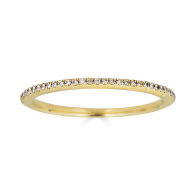 micropave diamond ring yellow gold