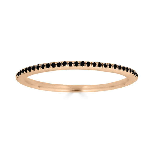 Le Basic Petite Micropave Ring- Black Diamond