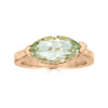 Enchanted Eyes large Marquise ring Pave Crown- Rose Gold