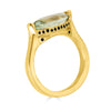 Enchanted Eyes large Marquise ring Pave Crown- Yellow Gold