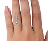 Baller Diamond double chain ring