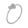 micropave heart white gold ring