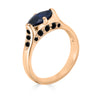 sapphire and rose gold ring