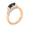 sapphire and white diamond pave ring
