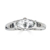 Enchanted Eyes petite Marquise crescent moon and sides pave- White Gold