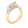 Enchanted Eyes petite Marquise crescent moon and sides pave- Rose Gold
