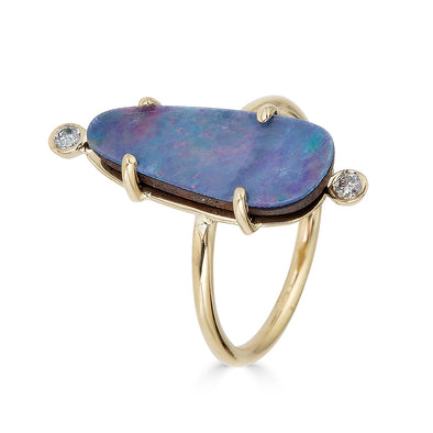 Opal Drops Double Bezel Ring