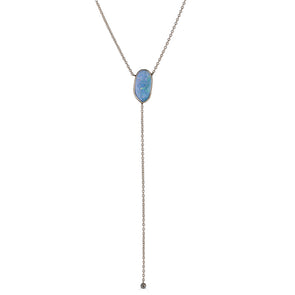 Opal Drops Lariat Necklace