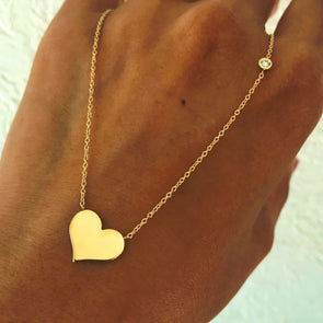 Shapes Secret message Heart Necklace