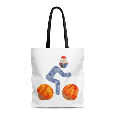 bicycle day cupcake tote