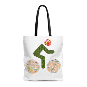 bicycle day flowers tote