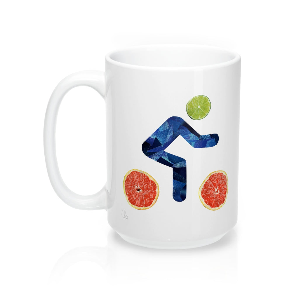 bicycle day lime mug