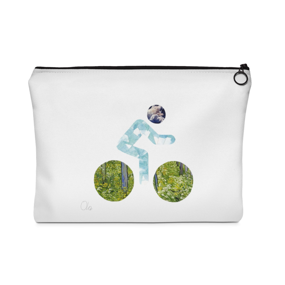 bicycle day clouds pouch